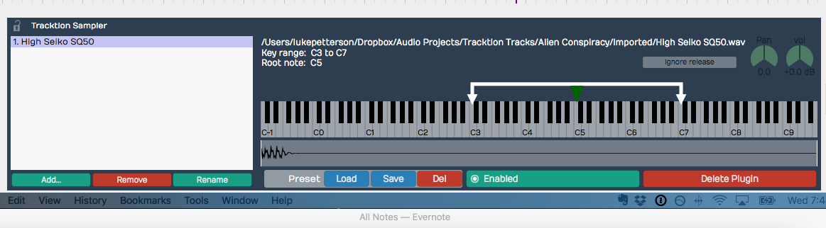 Exporting Audio With Click Tracks in Tracktion