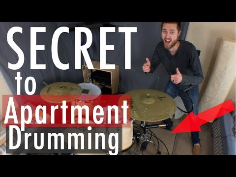 Video: A Real Practice Drum Kit Setup in an Apartment